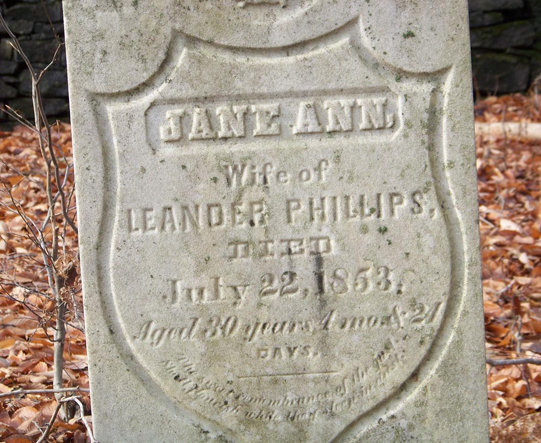 Clarke Cemetary headstone