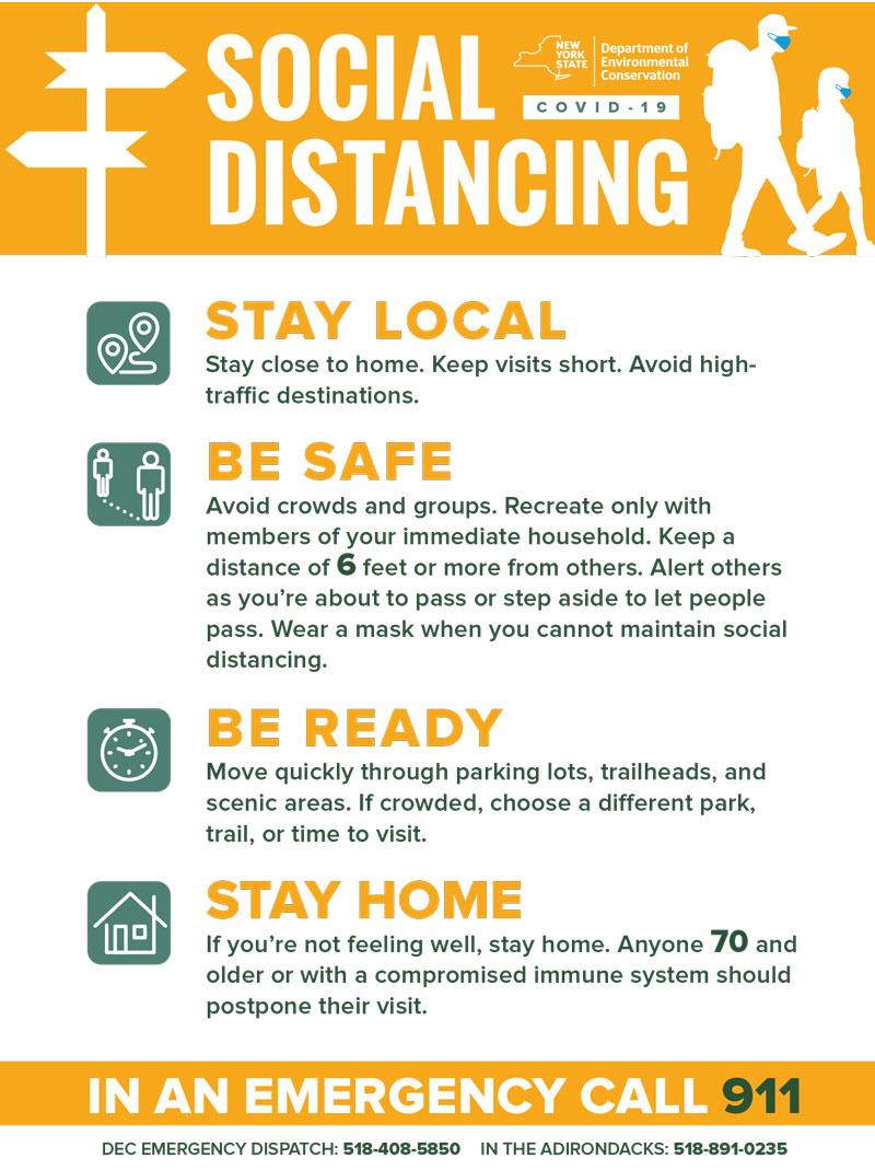 DEC social distancing flyer