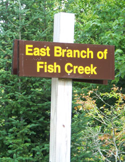 Fish Creek Sign