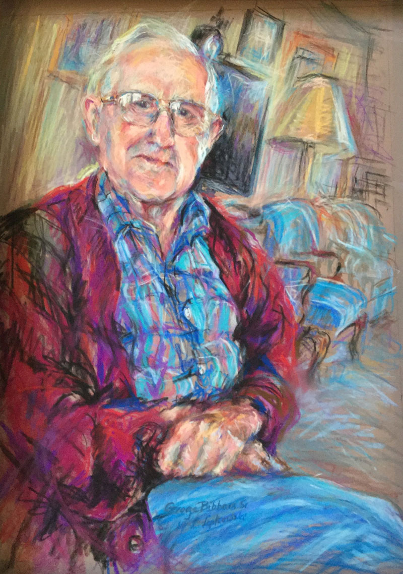 Painter Loretta Lepkowski painting of George Bibbins