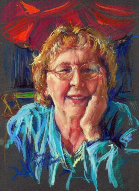 Portrait of Leona Chereshnoski by Loretta Lepkowski