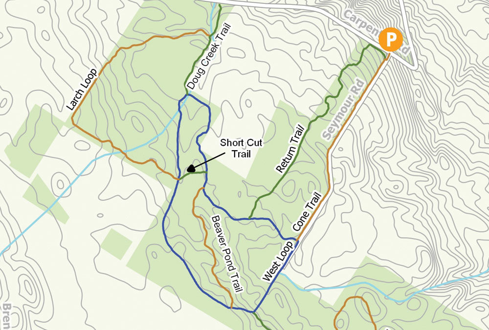Map from trail guide