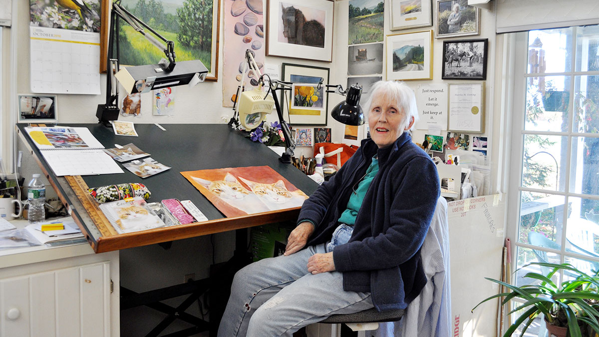 Martha Inside her Studio