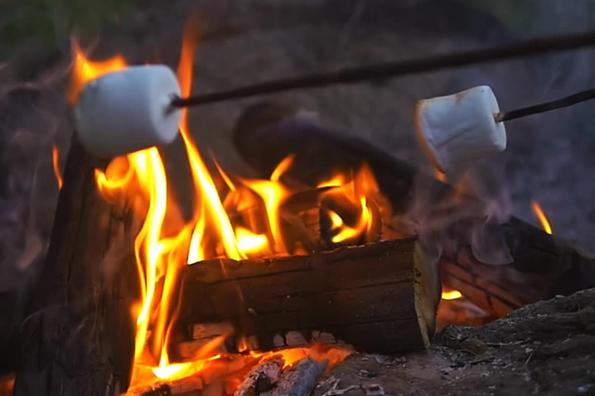 Roasting Marshmallows on an open fire