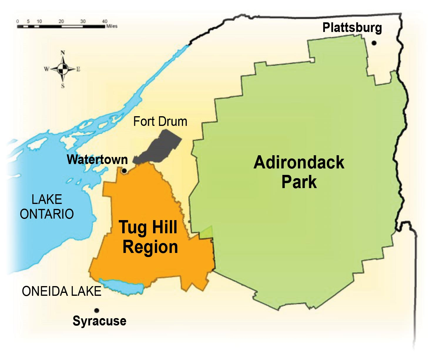 Tug Hill Locator map