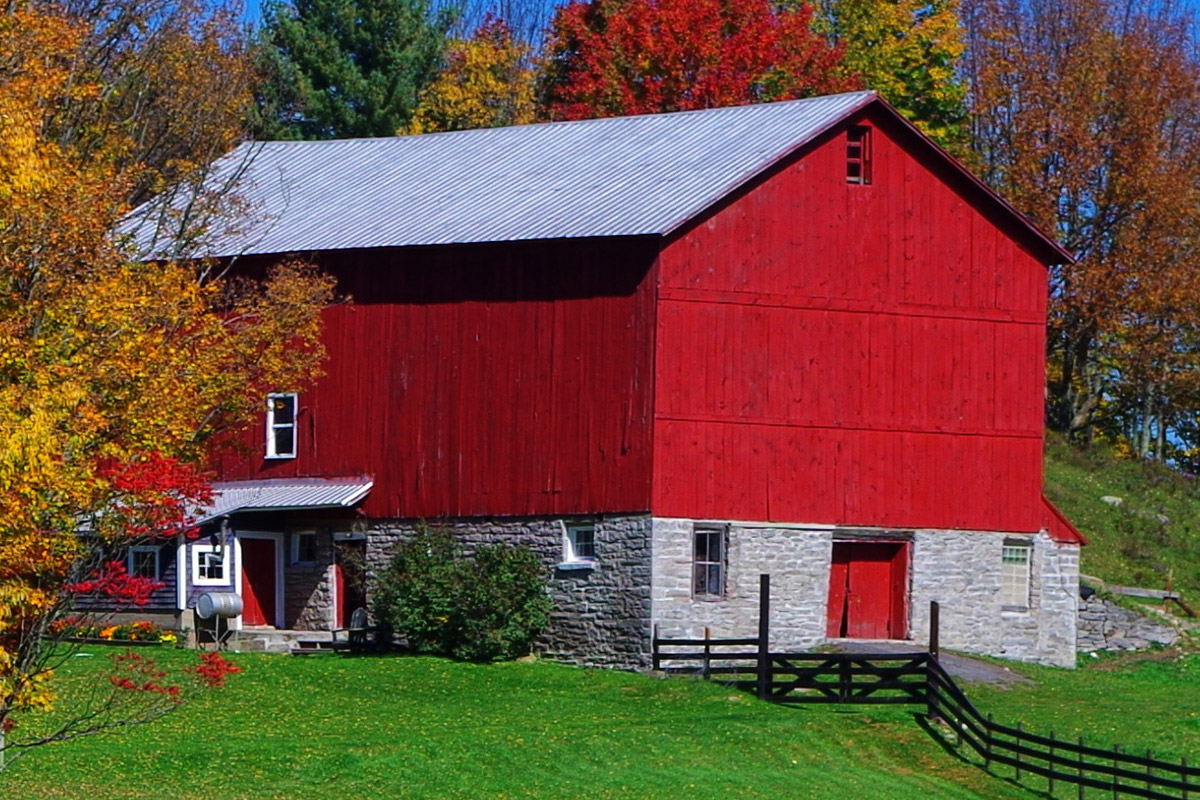 farm in Remsen fall