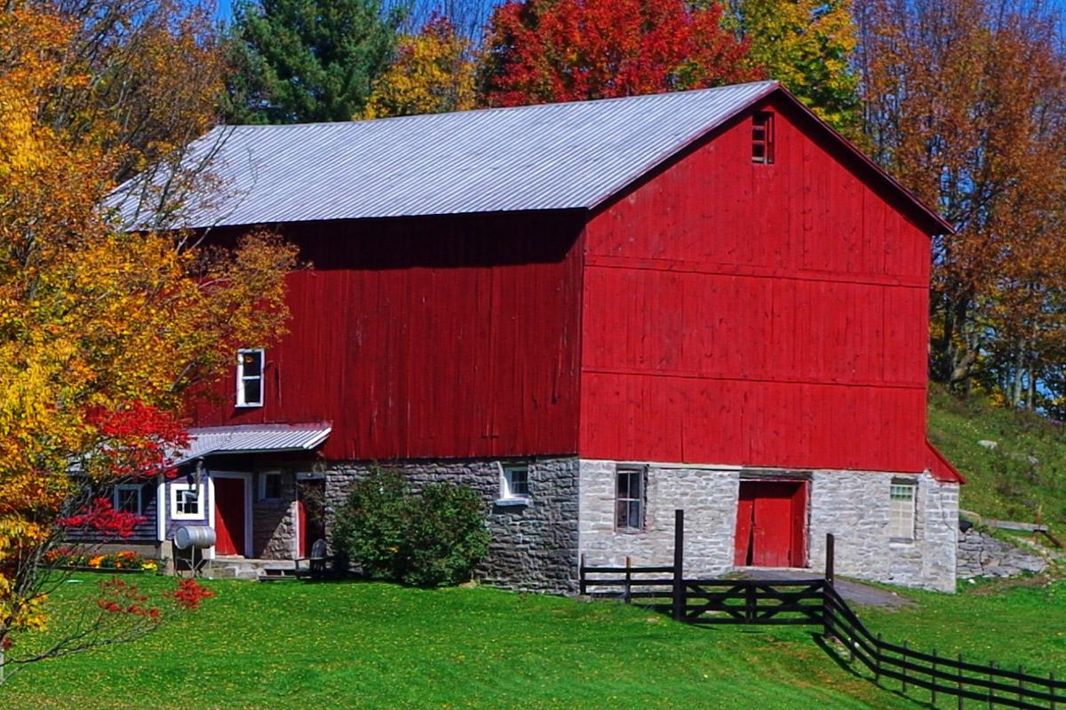 farm in Remsen fall